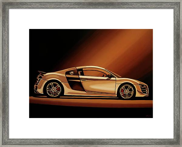 Audi R8 2007 Painting Framed Print