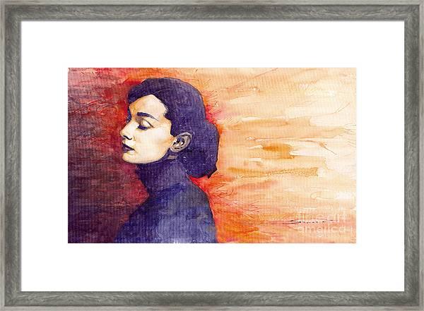 Audrey Hepburn 1 Framed Print