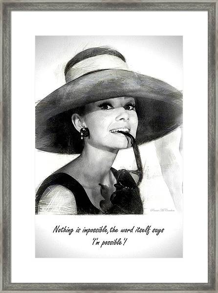 Audrey Hepburn 2 Framed Print