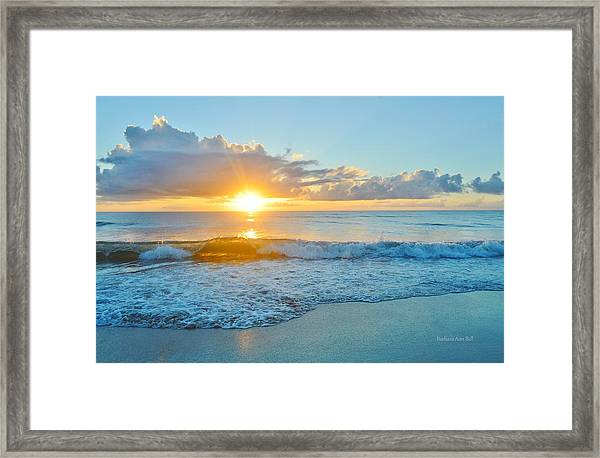 August 12 Nags Head, Nc Framed Print