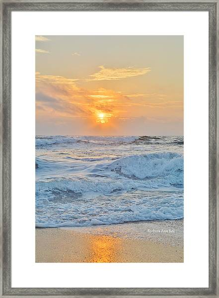 August 28 Sunrise Framed Print