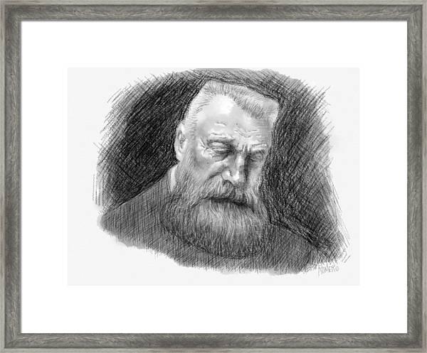 Framed Print featuring the digital art Auguste Rodin by Antonio Romero