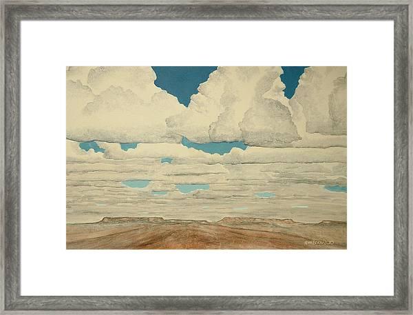 August Sky Framed Print