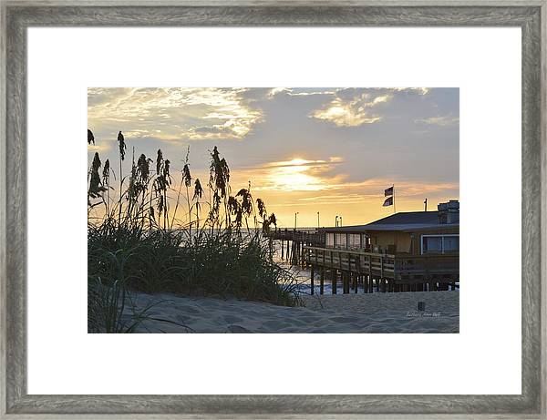 August Sunrise On The Obx  Framed Print