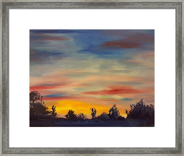 August Sunset In Sw Montana Framed Print