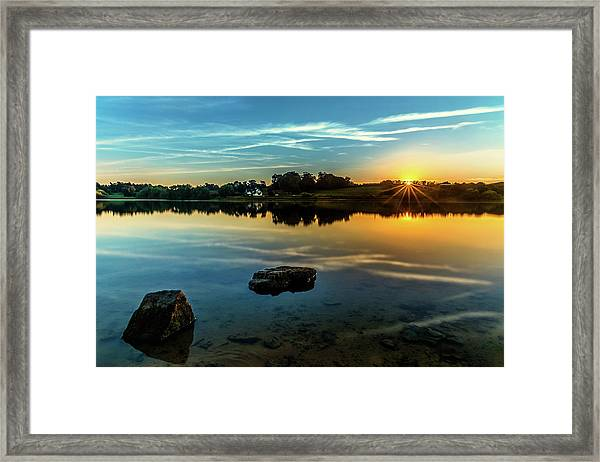 Framed Print featuring the photograph August Sunset by Nick Bywater