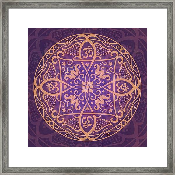 Aum Awakening Mandala Framed Print