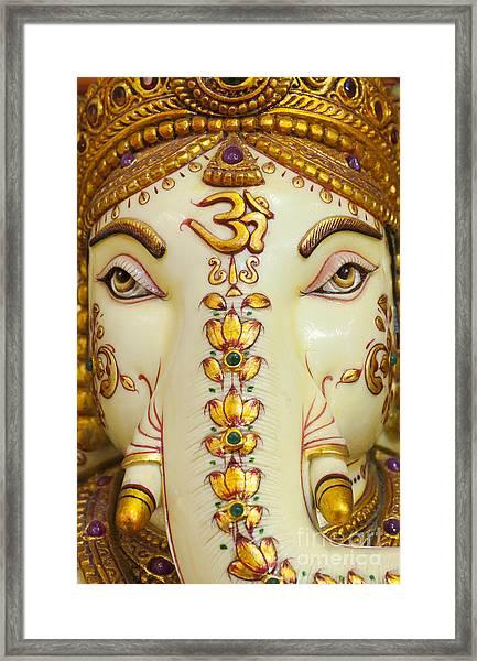 Aum Ganesha Framed Print