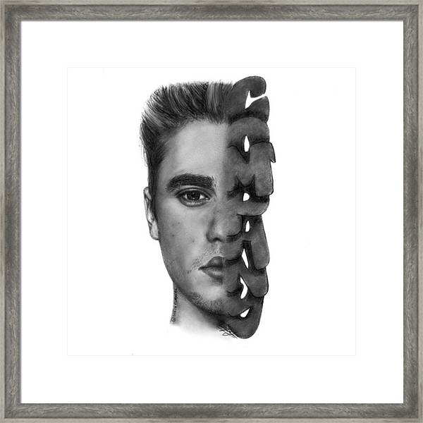 Justin Bieber Drawing By Sofia Furniel Framed Print