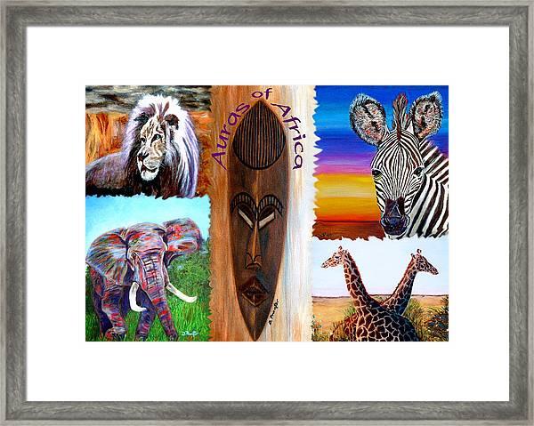 Auras Of Africa Framed Print