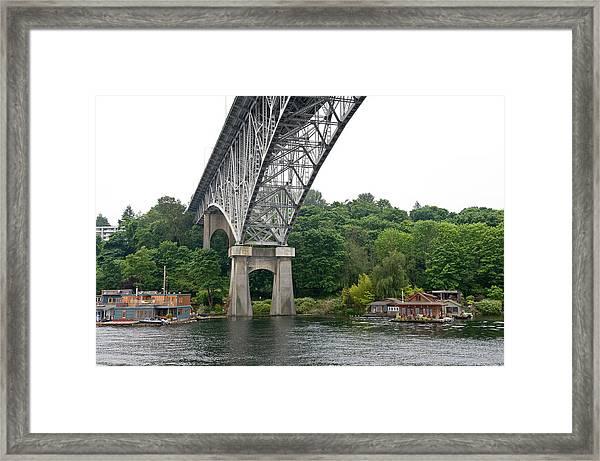 Aurora Bridge Framed Print by Tom Dowd