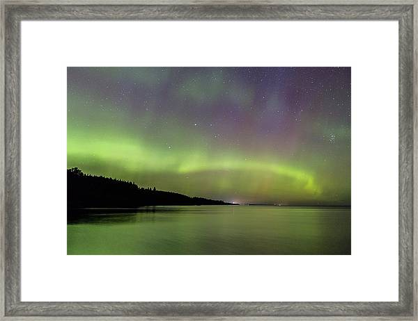 Aurora Over Superior 7 Framed Print