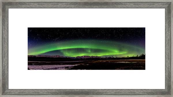 Aurora Spiral Framed Print