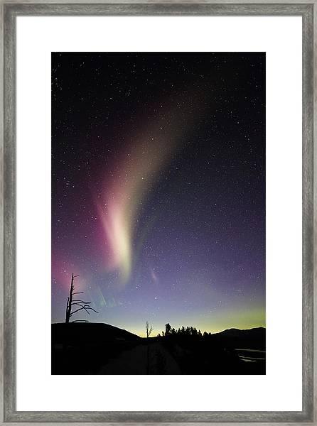 Auroral Phenomonen Known As Steve 2 Framed Print by Jean Clark