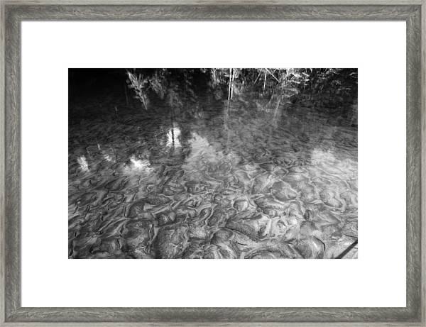 Ausable River Patterns Framed Print