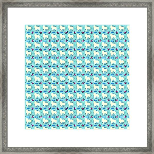 Aussie Dog Pattern Framed Print