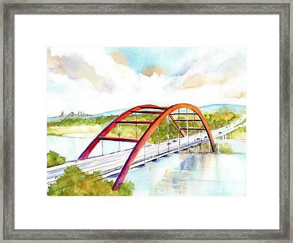 Austin 360 Bridge - Pennybacker Framed Print