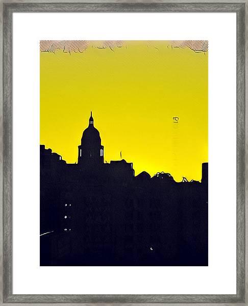 Austin Capital At Sunrise Framed Print