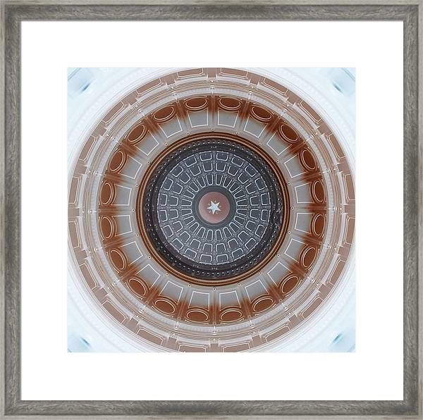 Austin Capitol Dome In Gray And Brown Framed Print