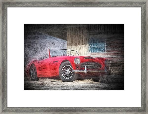 Austin Healey Chalk Study 4 Framed Print