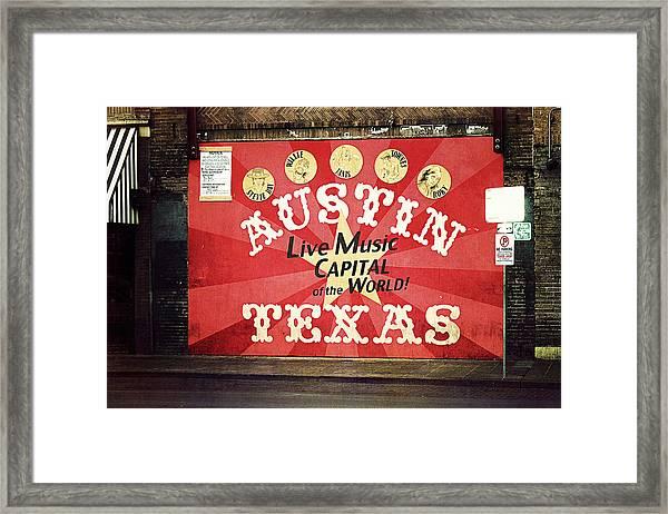Austin Live Music Framed Print
