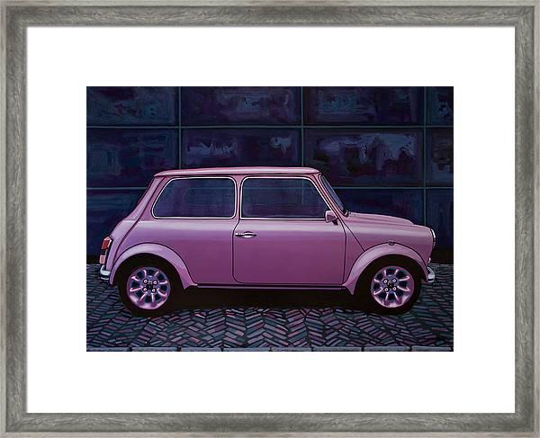 Austin Mini Cooper 1964 Painting Framed Print