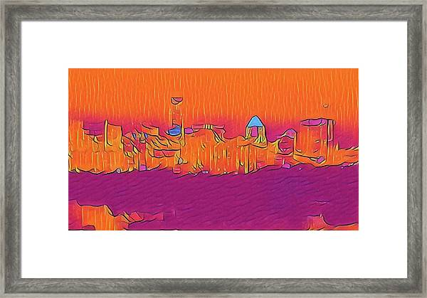 Austin Skyline Electric Framed Print