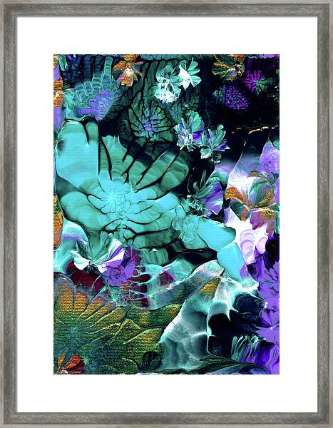 Australian Emerald Begonias Framed Print
