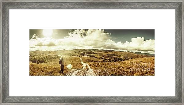 Australian Rural Panoramic Landscape Framed Print