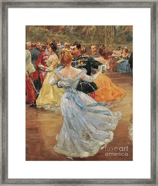 Austria, Vienna, Emperor Franz Joseph I Of Austria At The Annual Viennese Ball  Framed Print
