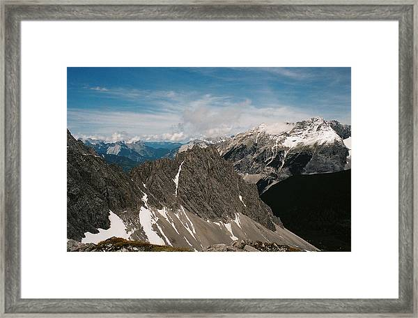 Austrian Alps On A Sunny Day Framed Print by Patrick Murphy