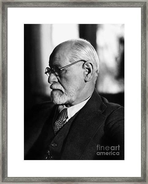 Austrian Psychoanalyst Sigmund Freud In 1925 Framed Print