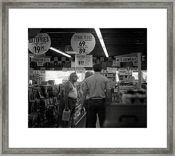 Auto-parts Store, 1972 Framed Print