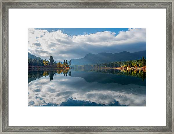 Autumn Along The Pend Oreille River Framed Print
