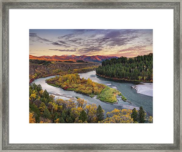 Autumn Along The Snake River Framed Print