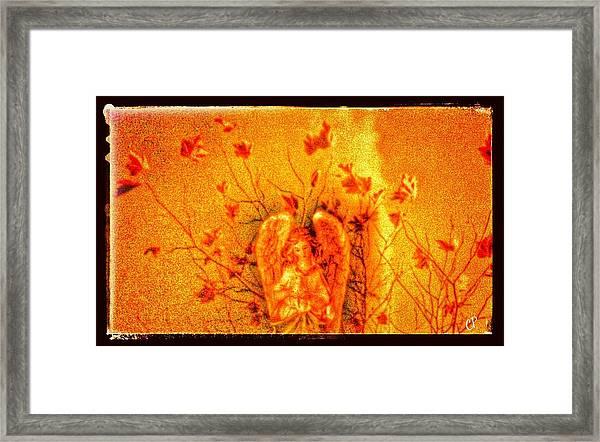 Autumn Angel Framed Print
