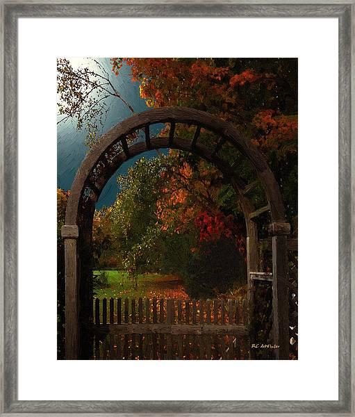 Autumn Archway Framed Print