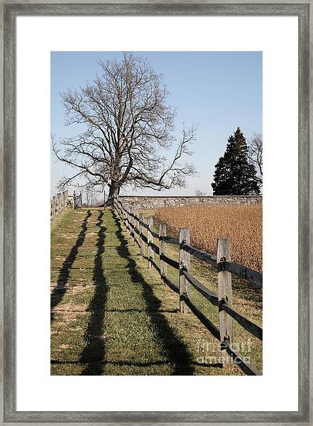 Autumn At Antietam Framed Print