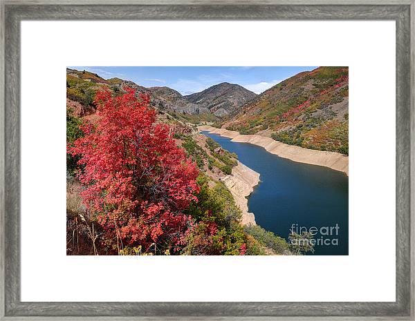Autumn At Causey Reservoir - Utah Framed Print