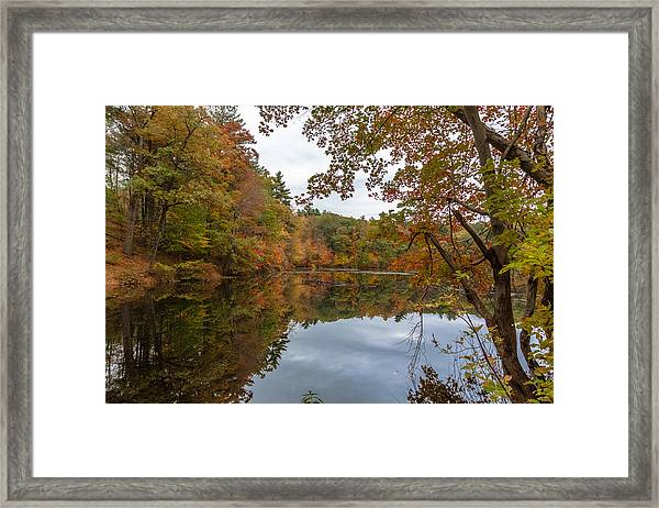 Autumn At Hillside Pond Framed Print
