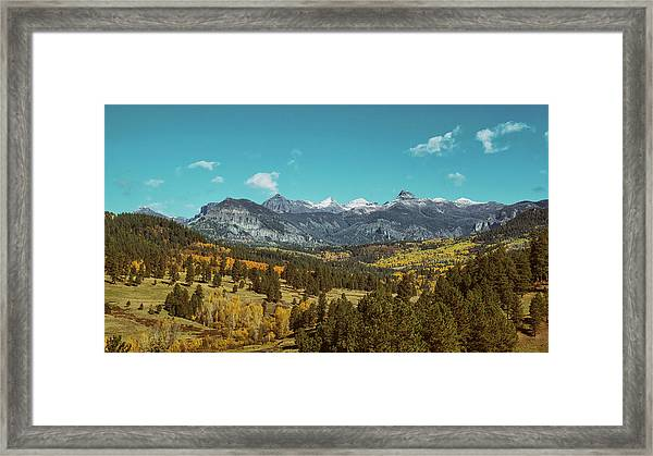 Autumn At The Weminuche Bells Framed Print