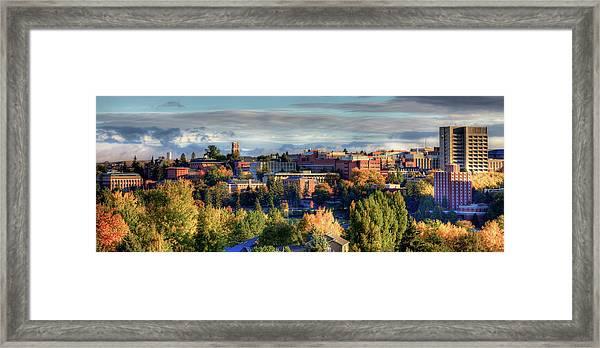 Autumn At Wsu Framed Print