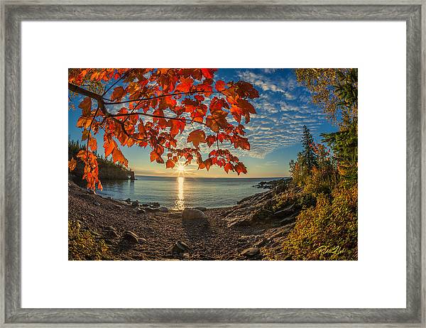Autumn Bay Near Shovel Point Framed Print