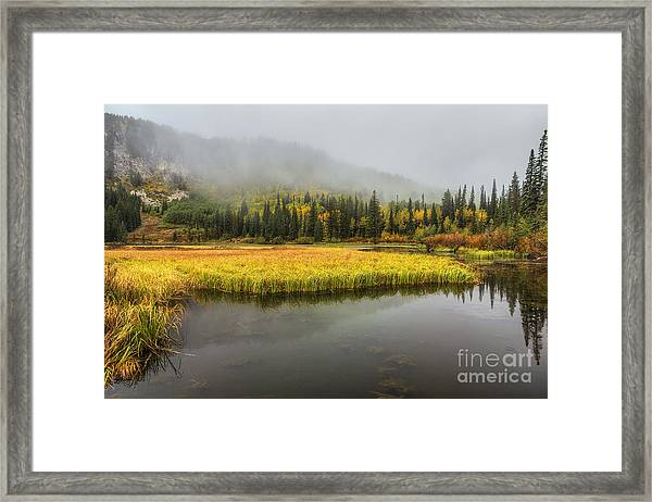 Autumn Begins At Silver Lake Framed Print