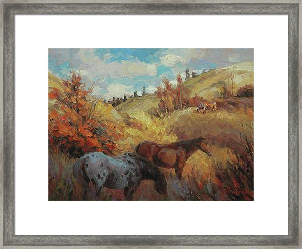 Autumn Browsing Framed Print