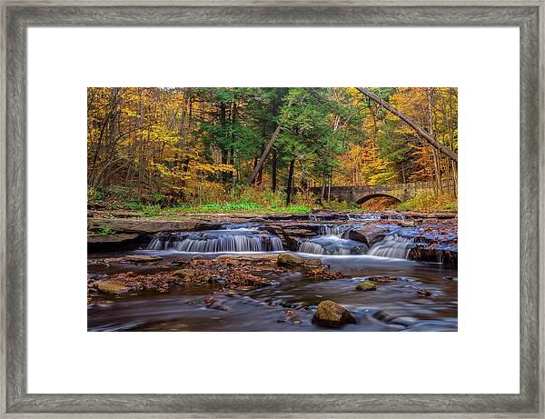Autumn Cascades Framed Print