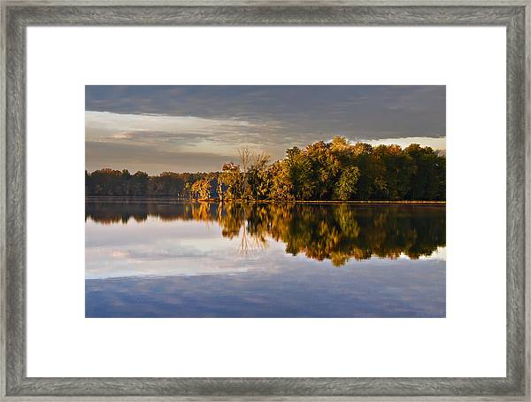 Autumn Colors On The Savannah River Framed Print by Michael Whitaker