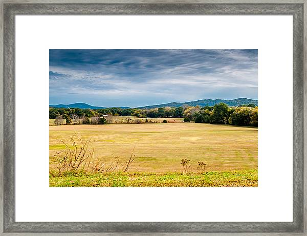 Autumn Field Framed Print