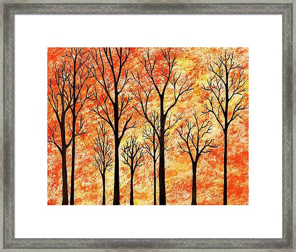 Autumn Forest Abstract  Framed Print