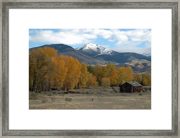 Autumn In Montana's Madison Valley Framed Print